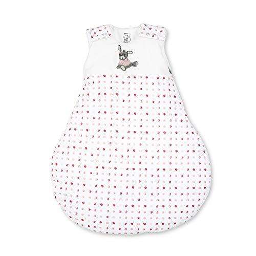 Sterntaler Schlafsack für Babys, Reißverschluss und Knöpfe, Größe: 50/56, Emmi Girl, Weiß/Rosa