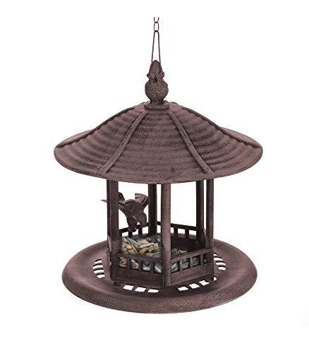 BigDean Futterhaus Vogel Futterstelle Vogelhaus Rostlook Rost zum Hängen Asia Asiatisch