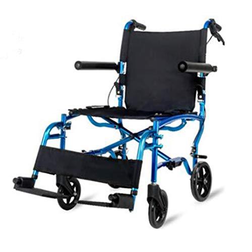 Life Folding Rollator Transport Wheel Chair - Opvouwbaar met grote wielen draaggewicht tot 220 lbs