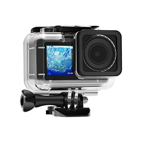 Skyreat Osmo Action Wasserdichtes Gehäuse, Tauchen Schutzgehäuse Shell 200ft / 61M mit 12 Stück Anti Fog Inserts für DJI Osmo Action Camera Zubehör