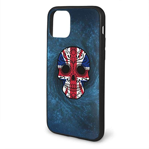 MISS-YAN para iPhone 11 Fundas para teléfono celular Bandera británica Azúcar cráneo cuerpo completo protección a prueba de golpes caso protección contra caídas para teléfono
