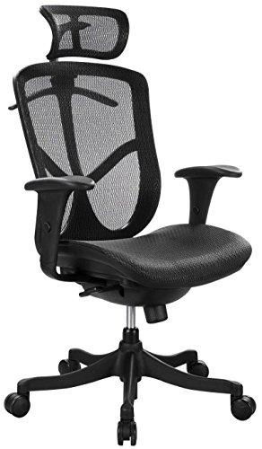 Eurotech Seating Fuzion High Back Swivel Chair, Black