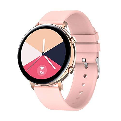 OH Moda Gw33 Inteligente Reloj Hombres Mujeres Llamada Bluetooth Smartwatch Pantalla Hd + Ecg Ppg Smartwatch Ip68 a Prueba de Agua para Ios Android regalo de vacaciones/Gold Pink