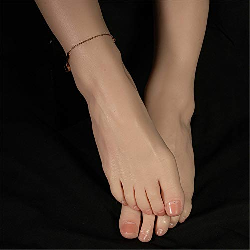 RAXST Silikon Mannequin Fuß, 1 Paar Fußfetischist Masturbation Sex Schönheit Füße Requisiten, simulierte Realität weibliche Füße Modell