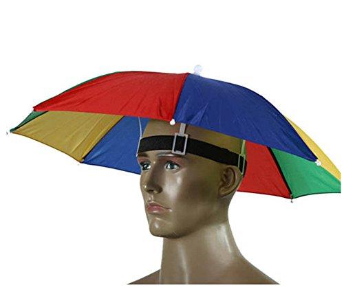 Paraguas de cabeza Westeng para el sol y la lluvia, para golf, pesca y acampada, 55 cm de diámetro, 1 unidad