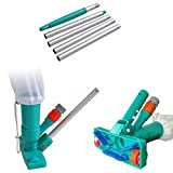 POOLWHALE Upgrades Pool Spa Pond Mini Jet Vac Vacuum Cleaner w/Brush, Bag,4 Sections Telescopic Pole of 48' and Handle