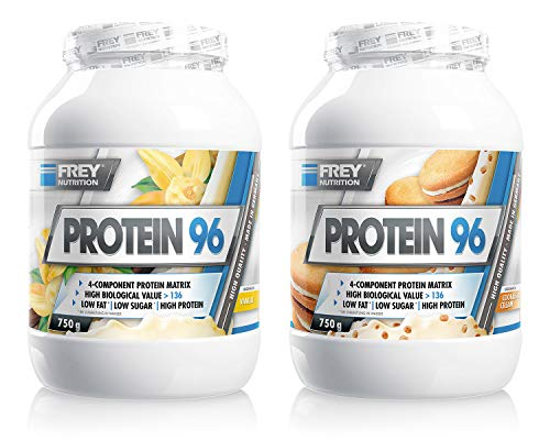 Frey Nutrition Protein 96 2 x 750g Dose 2er Pack Cookies-Cream