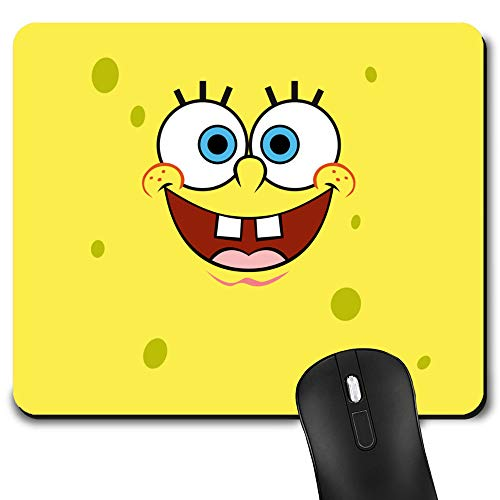 Gaming Mouse Pad Spongebob Yellow, Game Computer Mousepad for Laptop and Desktop, Cute Funny Mouse Mat for Kid and Office Gift
