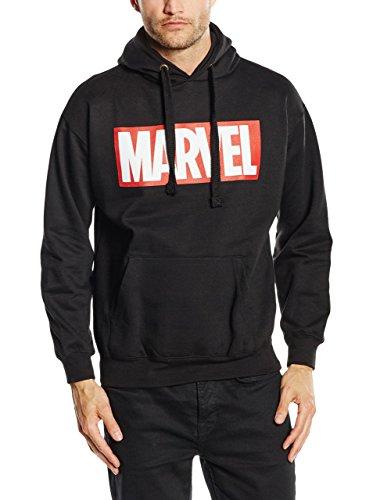 MARVEL Comics Core Logo P/O Hood, Capucha para Hombre, Negro, Large (talla Del Fabricante: Large)