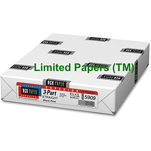 NCR Carbonless Paper, 3-Part Straight Collated, 8-1/2