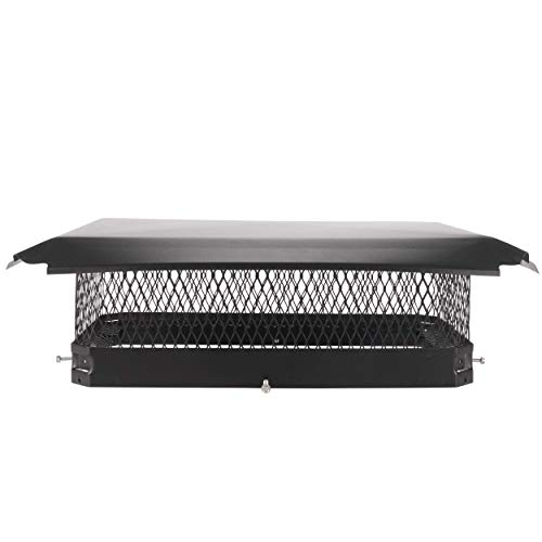 Buy Draft King CBC1321 Black Bolt On Galvanized Steel Single Flue Chimney Cap for Use in California ...