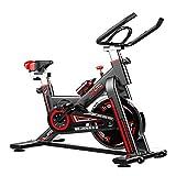 DGDC Bicicleta Estáticas para Fitness, Bici de Spinning, con Monitor LCD de Volante Silencioso y Cómodo Cojín de Asiento, Soporte para Teléfono y iPad