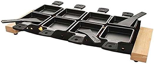 FTVOGUE Plateau de Cuisson Rotaster Portable Raclette au Fromage Portable Rotaster Po/êle Set Mini Raclette Set Accueil Cuisine Griller Outil Artisanat
