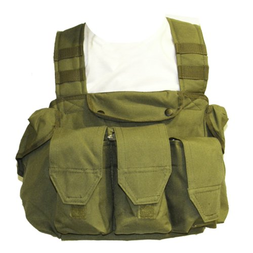 GILET GIUBBOTTO CORPETTO TATTICO VERDE MILITARE PER SOFTAIR TACTICAL VEST ROYAL H7301V