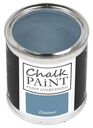 Everything CHALK PAINT Oceano 250 ml - SENZA CARTEGGIARE Colora Facilmente Tutti i Materiali