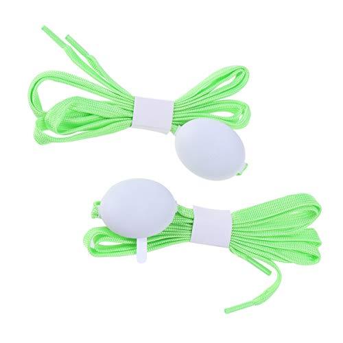 VOSAREA 1 Paar LED leuchtende Schnürsenkel Schuhbänder für Hip-Hop Tanz Radfahren Laufen Weihnachten Party Dekoration (grün)