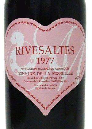 1977年 リヴザルト/フォセイユ・ピンクハートラベル(へび年)[フランス/赤ワイン/甘口/フルボディ/750ml/1本]