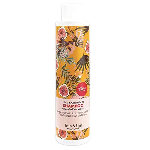 Jean & Len Philosophie Shampoo Glanz & Colorschutz Arganöl & Feige, verleiht Strahlkraft und Glanz, für coloriertes & nicht coloriertes Haar
