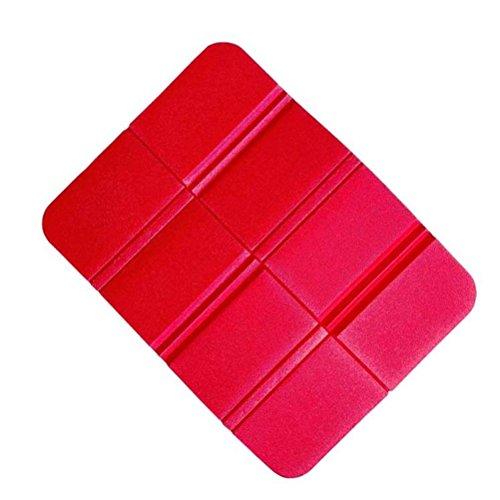VORCOOL XPE Coussin de siège pliable imperméable pour extérieur, camping, parc, pique-nique (rouge)