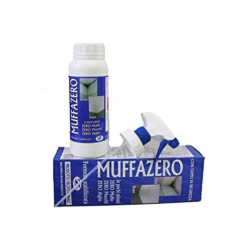 MUFFAZERO PRODOTTO PROFESSIONALE ANTIMUFFA ELIMINA E PREVIENE MUFFA FUNGHI ALGHE- 250 ML