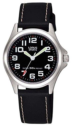 Lorus Watches Jungen Analog Quarz Uhr mit Leder Armband RRS53LX9