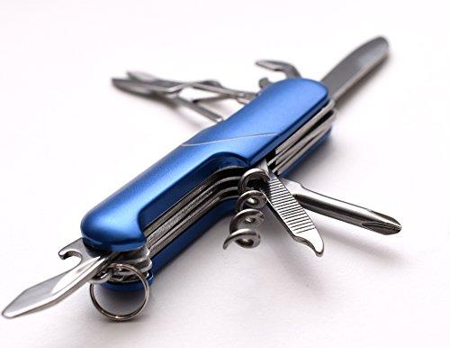 Blau EDC 7in 1Praktische Multi-Funktion Werkzeug mit Messer, Schraubenzieher, Schere und mehr
