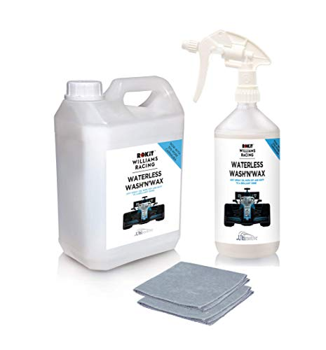 Rokit Williams Racing Waterless Wash and Wax Car Cleaning kit 1L + 2.5L...