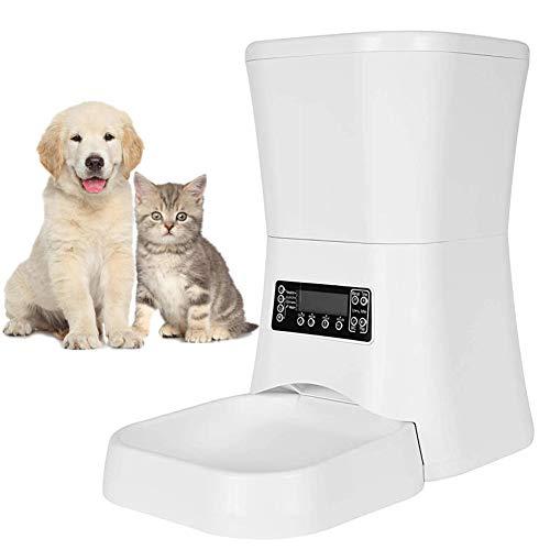 7 L Alimentador Automático para Perros Y Gatos con Pantalla LCD para Comedero Automático Gatos Y Perros con Temporizador Grabación De Voz Programable 4...