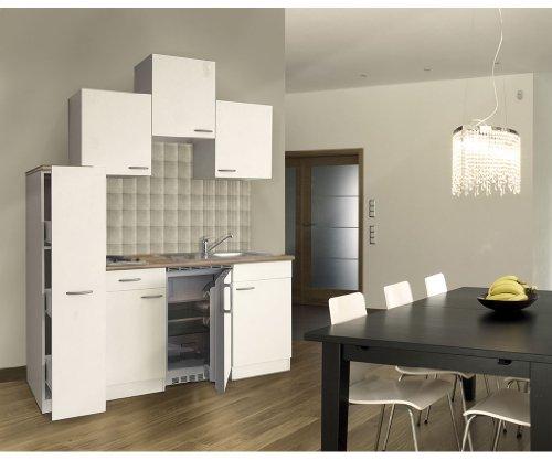 respekta KB180WW - Blocco cucina singolo, 180 cm, colore: Bianco