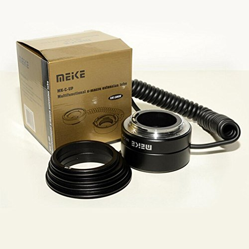 Meike Automatic AF Auto Focus Multifunctional E-macro Extension Tube MK-C-UP Macro & Reverse Mount On Lens with 58mm 67mm 72mm 77mm Adapter Rings for Canon EF/EF-S Mount Lenses