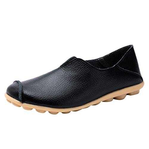 ♥ Loveso♥ Damen Einfarbig Mokassins Rutschfest Peas Bootsschuhe Komfortabel Arbeits- & Berufsschuhe