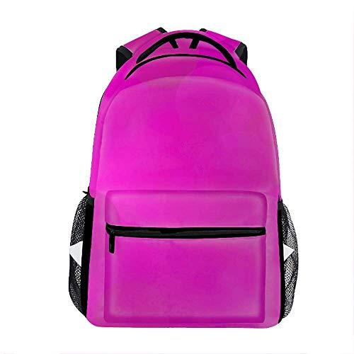 Ubuntu Stock Pink Outdoor Bookbags for Men, Cute Casual Backpack College Bags Women Daypack Travel Bag
