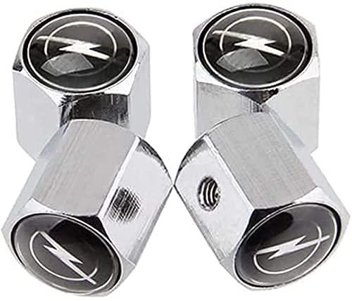 Neumático Automóvil Válvula Tapones Tapas para Opel Opc H G J Corsa Insignia Astra Antara Zafira, Polvo con Logo Antirrobo Decoración Accesorios