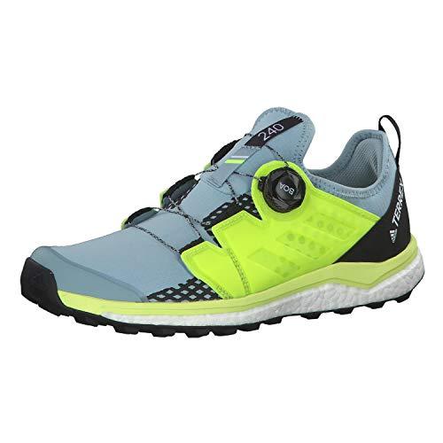 adidas Damen Terrex Agravic Boa W Cross-Trainer, Grau (Ash Grey S18/Solar Yellow/Core Black Ash Grey S18/Solar Yellow/Core Black), 40 2/3 EU