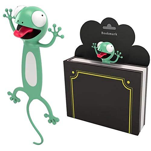 Lesezeichen Kinder, Lustiges 3D Cartoon Tier Lesezeichen mit kreativem Geschenk des flachen Körpers für Kinder und Mädchen