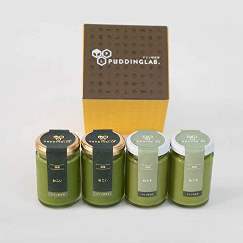 プリン研究所『最高級抹茶プリンおこいおうす食べ比べセット』