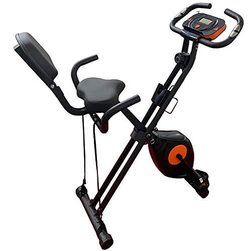 XLanY Faltbares Fitness-Heimtrainer, Indoor-Pedal-Fitness-Fahrradtrainer, Silent Magnetic Control Spinning Stationärer Fahrradständer für Heim-Cardio-Trainingsgeräte