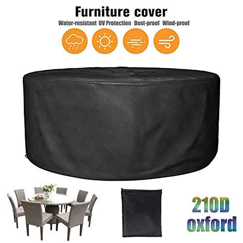 LWXTY Redondas Impermeables Funda para Muebles De Jardín Funda Protectora Muebles Exterior Anti-UV Protección Cubierta De Muebles De Mesas 210D Oxford,230x110cm/8x4ft