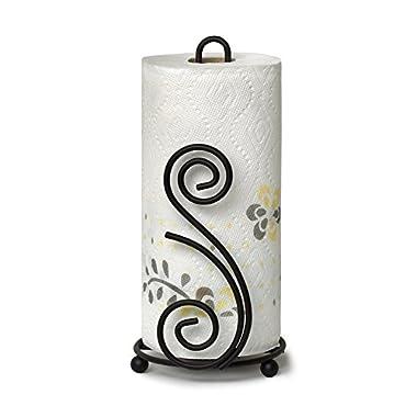 Spectrum Diversified Scroll DECO Paper Towel Holder, black