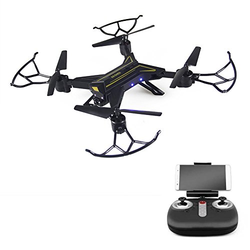 XY ZONE Foldable WiFi FPV Drone RC Remote Control Quadcopter with W/720P HD Camera,Altitude Hold,3D Flip, Headless Mode and One-Key Return for Beginners & Kids