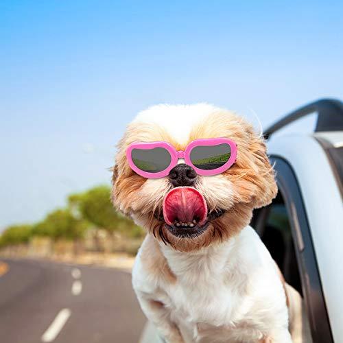 PETLESO - Gafas de sol para perros, resistentes al agua, rayos UV, para perros pequeños y gatos
