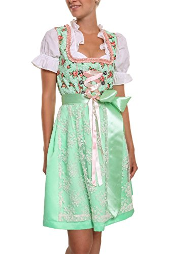 Hailys Damen Dirndl Trachtenmode Damenkleid Oktoberfest (L, Light Green)