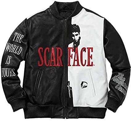 Mens Al Pacino Scarface movie Jacket Real J Leather Great interest Tony Montana Factory outlet