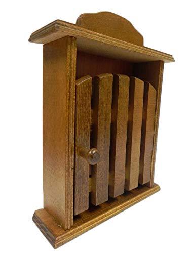 Armario para llaves – madera marrón claro – montado en la pared, organizador de llaves para casa