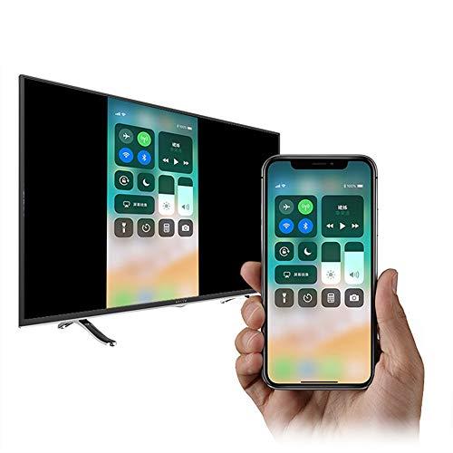 Compatible avec iPhone iPad vers HDMI Adaptateur Câble, l'adaptateur AV Numérique Câble de Connecteur TV HD 1080P Compatible avec iPhone 11 Pro XS MAX XR 8 7 6S Plus vers Moniteur de Projecteur TV