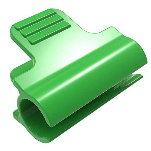 Abrazaderas de Invernadero de 20 Piezas, Clips de aro de túnel de Red de Cubierta de Fila de película estacas de Plantas de 11 mm, para Fijar película de plástico, Malla de Sombra en invernaderos.
