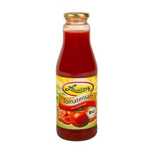 Tomatensaft aus Direktsaft, fruchtiger Lausitzer Bio Gemüsesaft mit 6x500ml in der Glasflasche