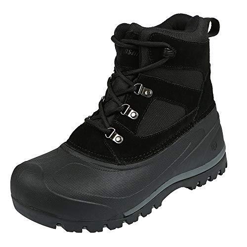 Northside Men's Tundra Winter Snow Boot, Black, 10 M US