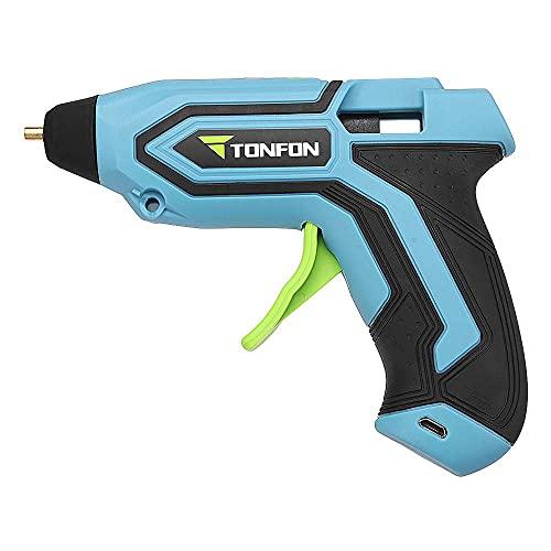 APROTII 3.6 V inalámbrico Hot Melt Pegamento pistola de reparación pistola de calor DIY herramientas USB recargable kits con 5 barras de pegamento