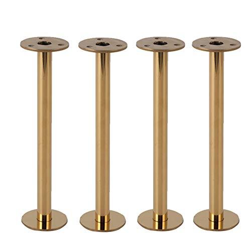 WSXZ Möbelfüße * 4, Metall-Edelstahl-Sofabeine, Ersatzbeine, verstellbare Möbelbeine, Stützfüße, Gold